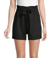 paperbag linen-blend shorts