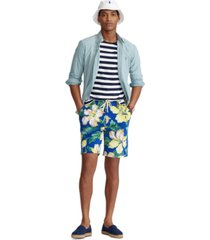 polo ralph lauren men's 8-inch floral spa terry shorts