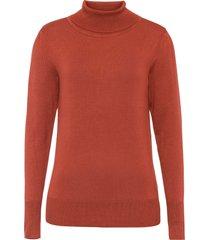 maglione a collo alto (marrone) - bodyflirt