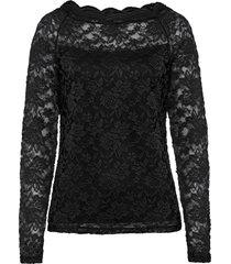 maglia in pizzo (nero) - bodyflirt