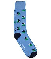 travel tech bullfrog dress socks, 1-pair