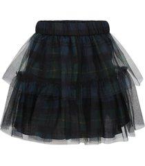 philosophy di lorenzo serafini multicolor skirt for girl with flounces