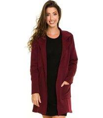 casaco sobretudo com recortes feminino - feminino