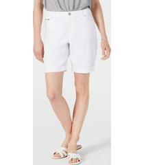 inc international concepts denim bermuda shorts in curvy, created for macy's