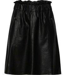 skirt knälång kjol svart depeche