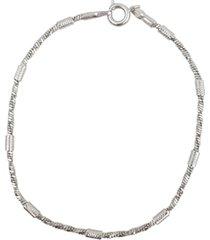 pulseira papillã´ joias canutilhos, em rã³dio branco - prata - feminino - dafiti