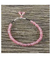 quartz beaded bracelet, 'endless summer pink' (thailand)