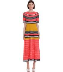 lanvin dress in multicolor wool