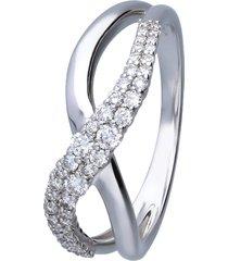 anello in oro bianco con diamanti 0,33 ct per donna