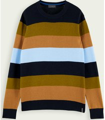 scotch & soda classic wool cotton-blend pullover