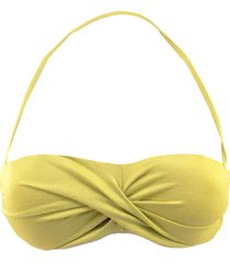 mc2 saint barth top lurex yellow