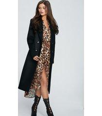 płaszcz z kaszmiru zibellino czarny