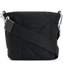 kenzo k stitched bucket bag - black