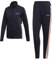 sudadera training adidas plain tricot - gris-rosa