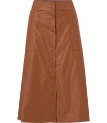 kjol viasenna hw midi coated skirt