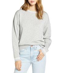 women's vineyard vines brushed dreamcloth sweatshirt, size xx-small - grey