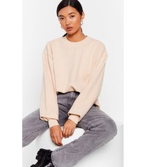 womens drop what you're doing relaxed sweatshirt - sand
