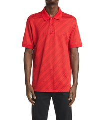 men's givenchy jacquard logo & chain link polo shirt, size xx-large - red