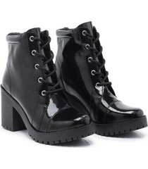 bota coturno babu shoes verniz tratorada feminina