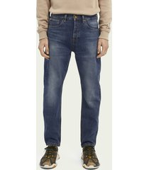 scotch & soda dean loose tapered fit jeans van biologisch katoen – washout