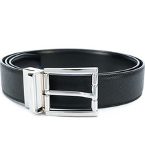 bally textured belt - black