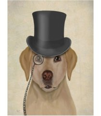 """fab funky yellow labrador, formal hound and hat canvas art - 15.5"""" x 21"""""""