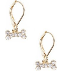 pet friends jewelry pave bone drop earring