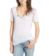 women's zadig & voltaire tino foil tee, size medium - white