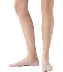 calzedonia glitter invisible socks woman pink size 40-41