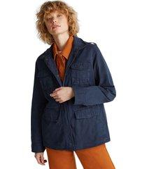 chaqueta edc 100% algodón azul marino esprit