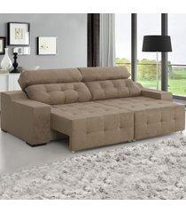 sofá 4 lugares retrátil e reclinável antares gold - viero móveis