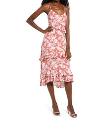 women's row a tiered high/low dress