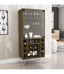 cristaleira 2 portas scala madeira rústica - móveis bechara