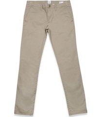 pantalon lived in skinny stretch khaki beige gap