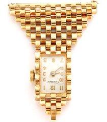 cartier 'american' 14k gold watch brooch
