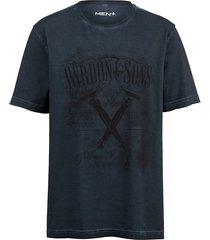 t-shirt men plus blå