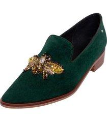 zapato chiara cristales verde kuss