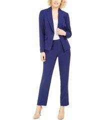 le suit one-button pants suit