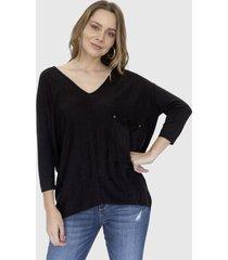sweater bolsillo helena negro racaventura