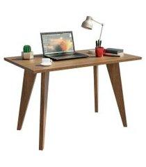 mesa madesa retangular para escritório com tampo de madeira 5319 marrom