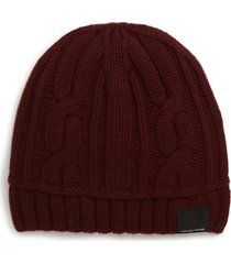 canada goose cabled merino wool toque beanie - burgundy