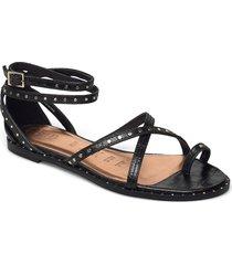 mathar-flat studded shoes summer shoes flat sandals svart ted baker