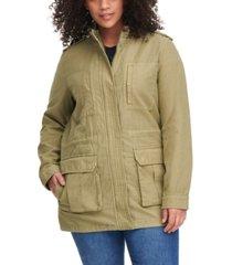 levi's trendy plus size stand-collar cotton anorak jacket