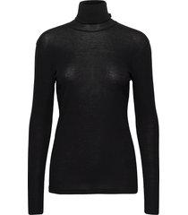 alaina top t-shirts & tops long-sleeved zwart filippa k