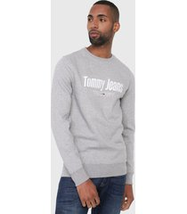 buzo gris-blanco tommy jeans