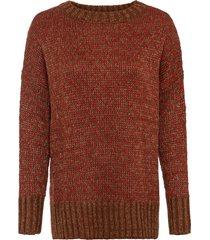 maglione oversize con lurex (marrone) - rainbow