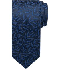 awearness kenneth cole blue & navy leaf narrow tie