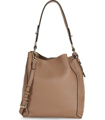 small grained leather hobo bag