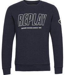 jumper sweat-shirt trui blauw replay