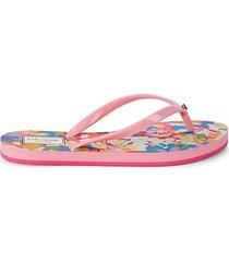 fiji floral thong sandals